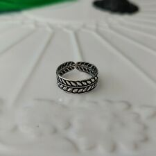 Leaf Toe Ring Solid 925 Sterling Silver