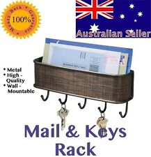 Key and Mail Holder for Wall Mounted Organizer Keys Hanging Letter Storage Rack