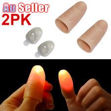 2pcs Magic Light Up Finger Fingers LED Tricks Thumb Props GSPG78501x2 Lights
