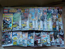 MINT FULL SET OF UK LEGO STAR WARS MAGAZINE EDNS 1-25 & ALL FREE LEGO TOYS GIFTS