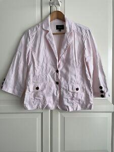 Pingpong Linen Jacket Blazer Size 12