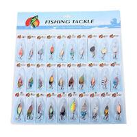 30 X metallo misti Spinners Pesca Esche luccio salmone Bass trota Pesce Gan B4G2
