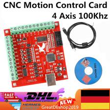 4 Axis Mach3 USB 100MHz CNC Motion Control Card Steuerung Breakout Board