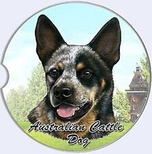 Australian Cattle Dog Car Coaster Absorbent Keep Cup Holder Dry Stoneware New