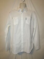 mens ecko unltd classic white casual button shirt L nwt $58