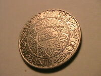 1352 Morocco 10 Francs Choice AU+ Lustrous Orig White Arabic Maroc Silver Coin