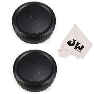 2Pack Body Cap+Rear Lens Cap for Fujifilm Camera X-E4 X-E3 X-S10 X-T200 X-E2 XT2