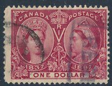 CANADA 1897 USED $1 JUBILEE #61, QUEEN VICTORIA !! E35