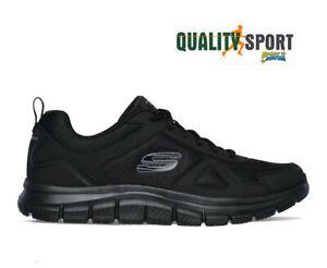 Skechers Track Scloric Nero Scarpe Uomo Sportive Running Palestra 52631 BBK
