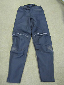 """FRANK THOMAS AQUA PORE BLACK OVER TROUSERS INC QUILTED LINING 28"""" WAIST"""