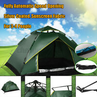 Automatic Quick Open Camping Outdoor Tent Double Layer Waterproof 3-4 Persons