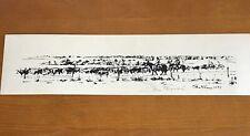 "John Flinn ""Manifor Roundup"" Limited Edition Silk Screen Print Signed 5 ""x 19"""