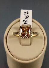NEUHEIT Gr.54 Damenring Goldring 585 Gold Echtgold Rosa Braun Weihnachten