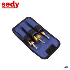 3pcs HSS Step Cone Drill Titanium Steel Metal Hole Cutter Bit Set 4-32mm Pouch