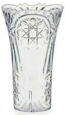 20cm Tall Etched Plastic Clear Flared  Flower Vase