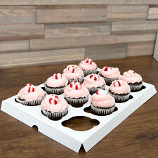 "200/CASE White Cupcake Insert Standard 12 Cupcakes for Bakery Cake Box 10"" x 14"""