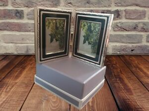 Vera Wang for Wedgwood With Love Silver Plated Double Photo Frame, 2' x 3'