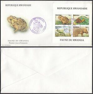 Rwanda 1998 - FDC. Cob Nr.: BL 110 - Fauna.. (EB) MV-6548