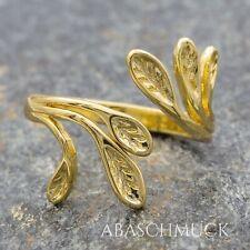 Silberring Silber 925 Ring  Verstellbar  Vergoldet Offen  R890 schlicht, edel