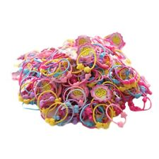 50pcs Resin Band Elastic Hair Bands Kids Cartoon Girls Hair Accessories -Fashion