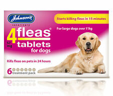 Johnson's 4 Fleas Tablets, Large Dogs 11kg+. 6 Pack