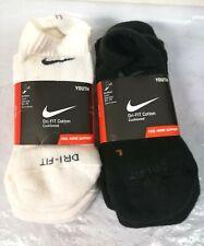 6-Pair Nike Youth DRI-FIT Cotton Cushioned No Show Socks, Size M 5Y~7Y - 0E_94