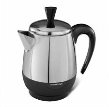 Farberware 2-4 Cup Electric tea coffee Percolator, Stainless Steel new electric