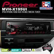 Pioneer Mvh-x195ui Car Radio Audio iPod iPhone Android Control Mp3 Player Tuner