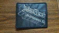 JUDAS PRIEST,LIVE VENGEANCE '92,SEW ON SILVER EMBROIDERED PATCH