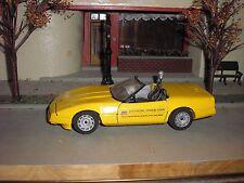 Nice 1/24 Vintage Diecast Majorette 1986 Chevy Corvette Pace Car Convertible