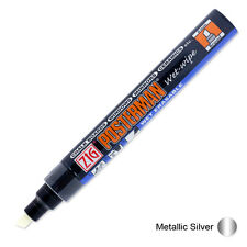 Zig Posterman Wet Wipe Marker - Broad - Metallic Silver (Pack of 12)