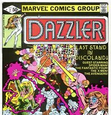 Marvel Comics DAZZLER #2 with Spider-Man from Apr. 1981 in F/VF condition DM