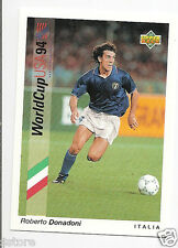 Rare UPPER DECK USA WC 1994 Trading Card OF ITALY ROBERTO DONADONI IN NM/M