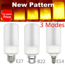 E27 E14 B22 LED Burning Light Flicker Flame Lamp Bulb Fire Effect  Decorative