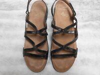 Dansko 42 Black Patent Leather Sandal 11.5 - 12 Womens