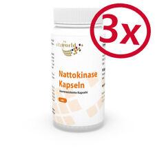 3 Pack Nattokinase 100mg 2000 F.U. 270 Capsules Vita World German Pharmacy