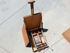Vintage Wood Artists' Box Palette Easel Crayonex Prang Watercolor Ambrite Chalk