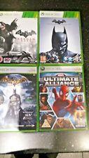 Xbox360 Marvel Ultimate Alliance Batman Arkham Origins Arkham City Arkham Asylum