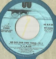 45 Promo C. J. & Co. We Got Our Own Thing - Part 1 Stereo/Mono