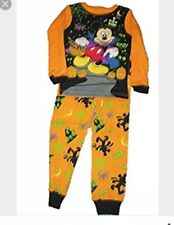 New 2 piece Mickey Mouse Halloween glow in the dark pajamas size 2T snug fit