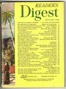 Reader's Digest Magazine January 1950