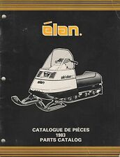 1983 SKI-DOO  ELAN  SNOWMOBILE PARTS MANUAL 480 1166 00 (576)
