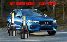 LED For Volvo XC60 2018-2019 Headlight Kit H7 6000K White CREE Bulbs Low Beam
