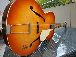 Alte Jazzgitarre Archtop Framus Made in Germany Guitar plus Koffer