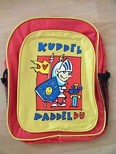 Kinder Rucksack gelb rot  mit Aufdruck ca. 25 x 32 x 10 cm neu in OVP