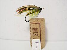 Vintage Salmon Gut Eye Fly Japanned Hook  Size 3