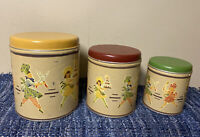 Vintage Display Only Canisters See Details Decoupage Vintage pictures