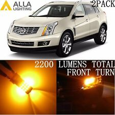 Alla Lighting Front Turn Signal Light 3757NA Amber Yellow LED Bulbs for Cadillac