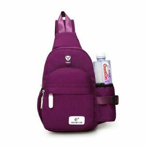 Men Women Nylon Crossbody Shoulder Chest Cycle Sling Bag Outdoor Travel Backpack