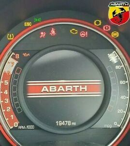 Abarth 595/695 Fiat 500 Dashboard Halo Various Colours Available